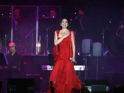 Isabel Pantoja, durante una actuación.