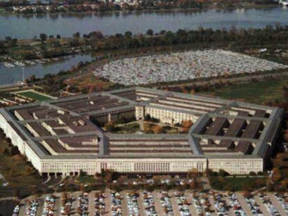 Vista aérea del edificio del Departamento de Defensa de EE UU.