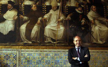El expresidente de la Generalitat, Francisco Camps, en el salón de Corts de Presidencia en una imagen de archivo.