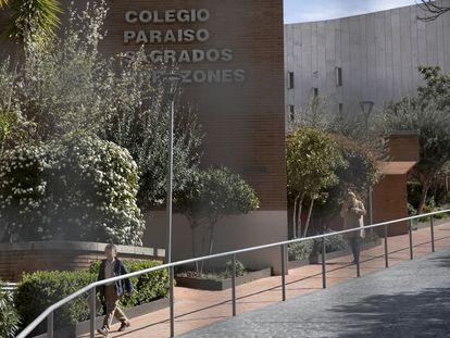 Colegio en el que está escolarizado el primer niño contagiado con coronavirus en Madrid.