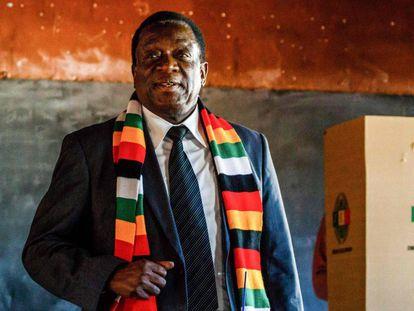 Emmerson Mnangagwa el pasado lunes.