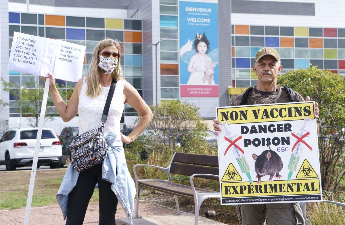 Quebec prohíbe las manifestaciones antivacunas a menos de 50 metros de hospitales y escuelas