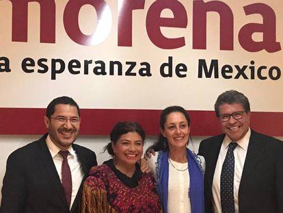 Batres, Brugada, Sheinbaum y Monreal en una reunión en julio pasado.