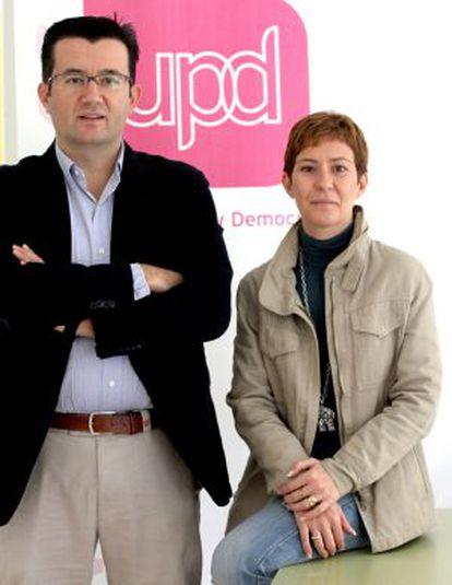 Rafael Soriano y Esther Puntero, responsables de Estudios y de Organización de UPyD.