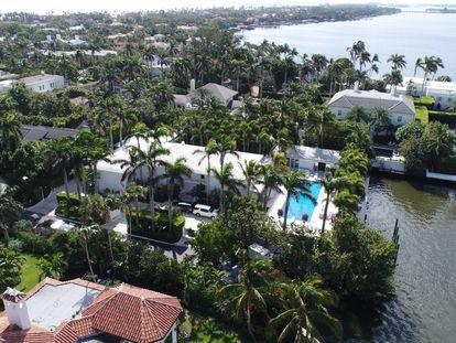 La casa de Jeffrey Epstein en Palm Beach (Florida, EE UU).