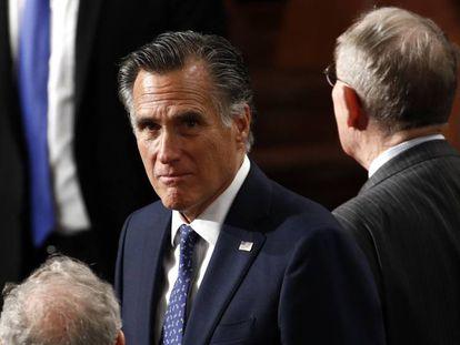 El senador republicano por Utah Mitt Romney. En vídeo, Romney, explica los motivos para votar a favor de la destitución de Trump.