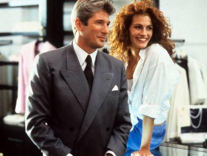 Richard Gere y Julia Roberts, en ?Pretty Woman', 1990.