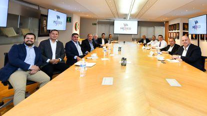 Reunión de la oposición de México, con los presidentes del PRI, el PAN y el PRD.