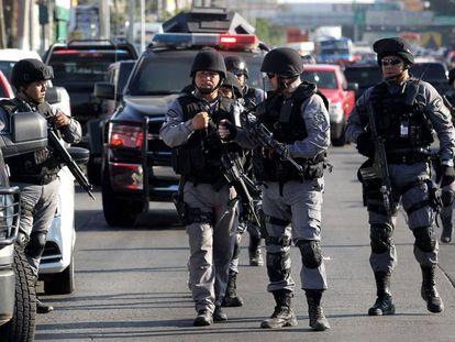 Operativo contra el CJNG el pasado luenes en Guadalajara