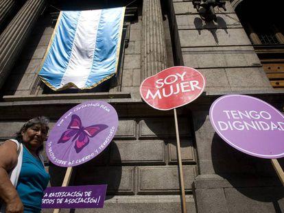 Protesta contra la violencia de género en Guatemala.