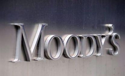 Logo de Moody's en su sede corporativa, en Nueva York.