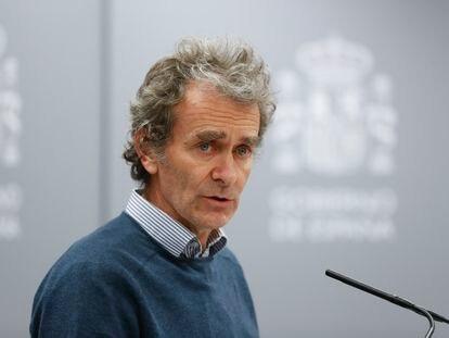 Fernando Simón, director del Centro de Coordinación de Alertas y Emergencias Sanitarias, el pasado 5 de marzo