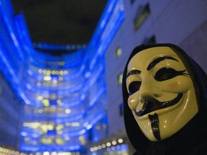 Un activista de Anonymous.