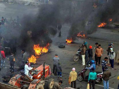 Protesta contra la reforma de la ley de ciudadanía en Patna.
