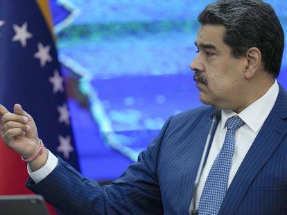 El presidente de Venezuela, Nicolás Maduro durante una rueda de prensa.