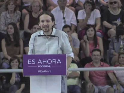 """Pablo Iglesias apela al voto de """"los socialistas de corazón"""" el 24-M"""
