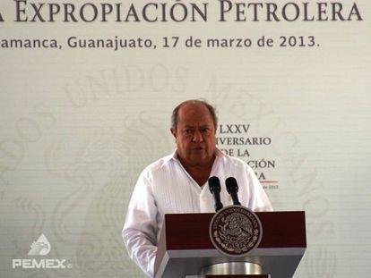 Carlos Romero Deschamps en un evento de Pemex en 2013.