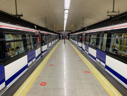 Una estación del Metro de Madrid.