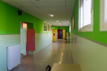 Aula desierta tras la suspensión de las clases, el pasado 11 de marzo.