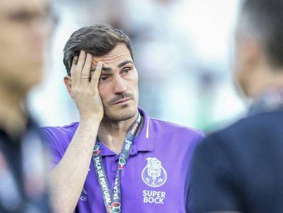 Iker Casillas, el 27 de mayo en Oporto (Portugal).