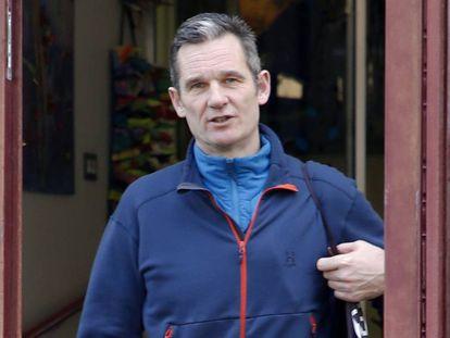 Iñaki Urdangarin a la salida del Centro Hogar Don Orione el 14 de febrero de 2020.