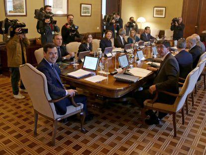 Consejo de Gobierno, presidido por Juan Manuel Moreno.
