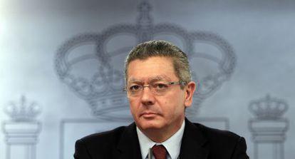 El ministro de Justicia, Alberto Ruiz-Gallardón, en una imagen de archivo.