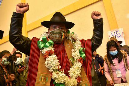 El gobernador electo de La Paz, Santos Quispe, el domingo en la ciudad de El Alto.