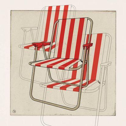 La omnipresente silla de playa diseñada para gente más práctica que esteta y, sobre todo, para dar salida a la cantidad de excedente de tubo de aluminio que el fabricante Alcoa tenía en sus almacenes tras la Segunda Guerra Mundial.  