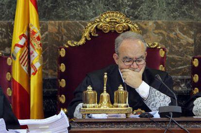 El presidente de la Sala de lo Penal, Juan Saavedra.