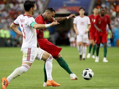 Ricardo Quaresma marca el primer gol del Irán - Portugal