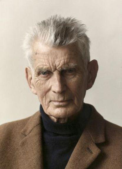 El escritor irlandés Samuel Beckett (1906-1989).