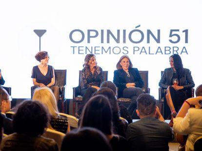 Periodistas y escritoras lanzan 'Opinión 51′ en la Ciudad de México.