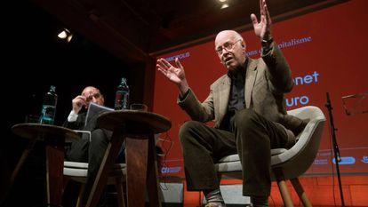 Richard Sennett, durante su intervención en el festival literario Kosmopolis del CCCB.