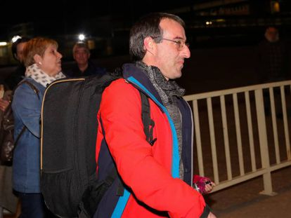 David Pla, a su salida de la cárcel de Soto del Real.