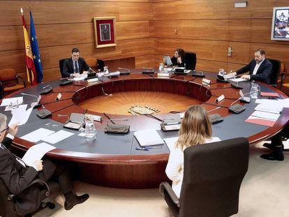 Reunión del Consejo de Ministros, el pasado domingo en La Moncloa.