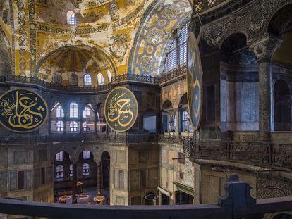 El interior de Santa Sofía, en Estambul.