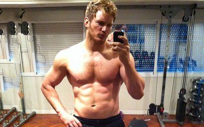La imagen dio la vuelta al mundo: Chris Pratt presumía en Instagram de los abdominales que había ejercitado para su papel de 'Guardianes de la Galaxia'.