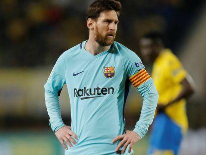 Messi durante el partido contra Las Palmas.