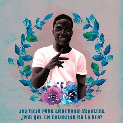 Las protestas en EEUU por la muerte de George Floyd dieron visibilidad en Colombia a la muerte de Anderson Arboleda.