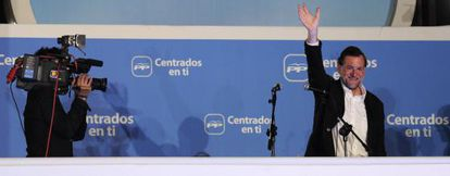 Mariano Rajoy celebra el triunfo del PP en las elecciones del 22M