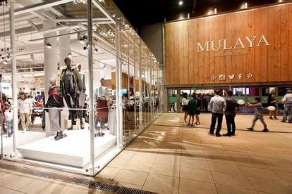 Tienda de Malaya en un centro comercial de Madrid.