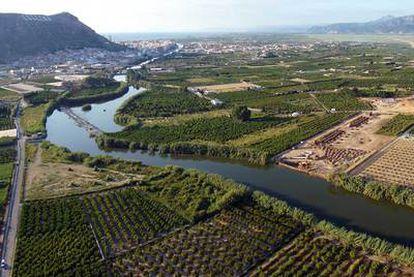 El río Júcar, a su paso por la localidad valenciana de Cullera.