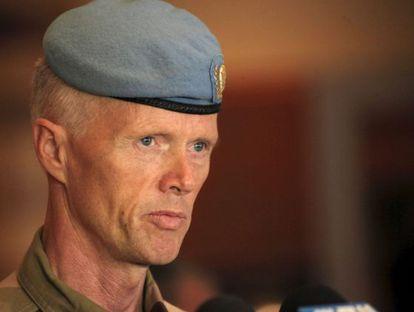 El general noruego Robert Mood, jefe de la misión de la ONU en Siria.