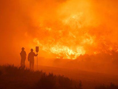 Incendio en Navalacruz.