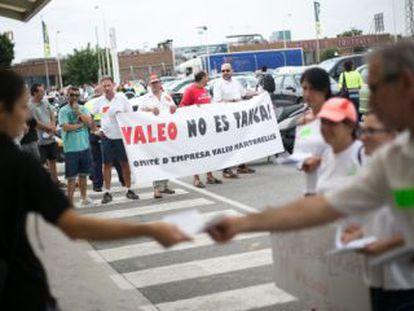 Una de las protestas de la plantilla de Valeo.