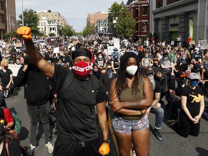 Manifestantes contra el racismo, este martes en la ciudad de Washington.