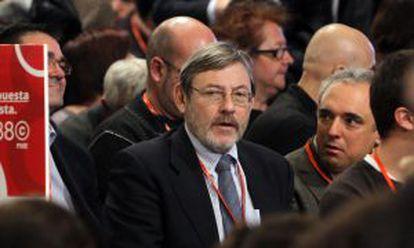 Lissavetzky y Simancas en el congreso del PSOE.