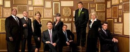 Los intérpretes de <i>Boston legal,</i> cuya tercera temporada se estrena mañana en Fox.