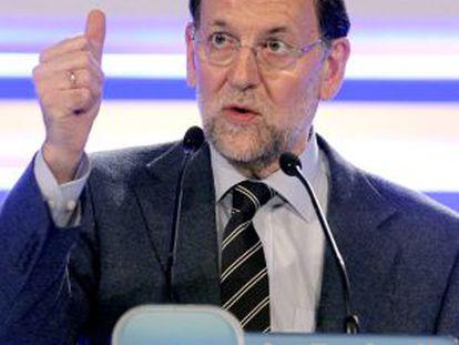 Mariano Rajoy, el domingo en su intervención en la clausura del congreso del PP vasco.